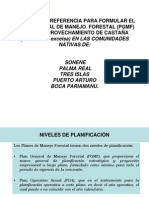 TERMINOS DE REFERENCIA PARA FORMULAR EL PLAN  GENERAL DE MANEJO  FORESTAL  CASTAÑA