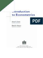 Stock Watson Econometrics