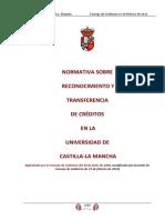 Normativa Sobre Reconocimiento y Transferencia de Creditos en La UCLM