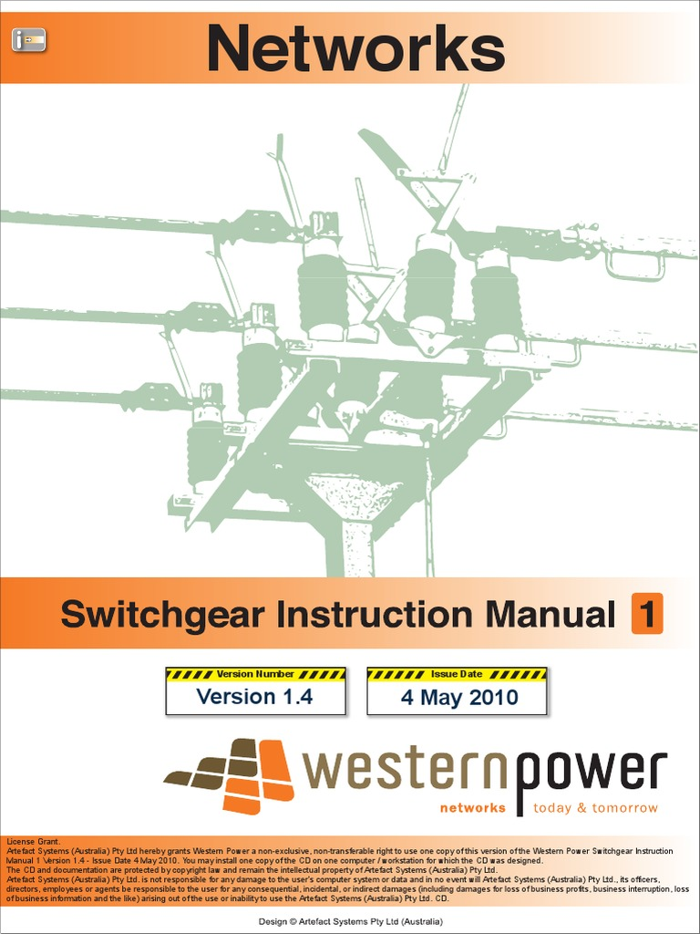 Switchgear Instruction Manual 1 Version 1 4 (2) | Switch | Electrical  Substation