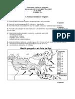 2005 Geografie Judeteana Subiecte Clasa a XI-A 0
