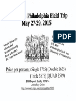 Sophomore Philadelphia Trip Flyer
