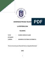 Filosofia La Epistemologia - TELESUP