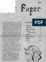 The Paper Counterculture Paper New Jersey 1973