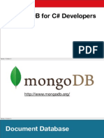 Mongo DB for C# developers
