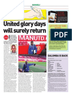 Manutd Glory Days Will Surely Return