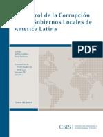 El Control de La Corrupcion en Los Gobiernos Locales de América Latina