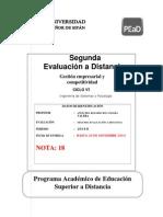 Segunda Evaluacion Distancia Gestion Empresarial 2014II