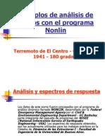 Ejemplos de Análisis de Sismos Con El Programa Nonlin