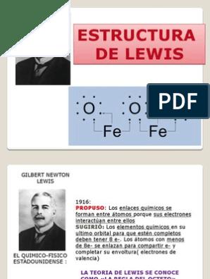 Estructura De Lewis 6 Pptx Enlace Químico Valencia Química