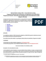 OEA-UniAndes PasantiasDoctorales 2013