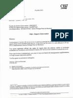 Rapport CSST 13 Juin 2014 (Droit de Refus B-1)