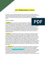 Cement Factory Maintenance Course
