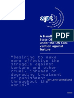 A Handbook on State Obligations under the UN Convention against Torture