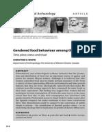 03 White 2005 Gendered Food Bahaviour Among the Maya
