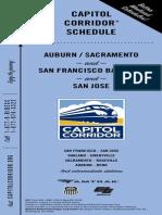 Capitol Corridor Schedule 072814