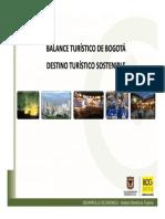 Balance Turistico de Bogota