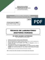 Prova Ta942011 TecLabAnatomiaHumana p