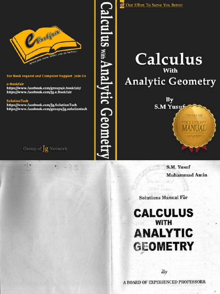 calculus with analytic geometry sm yusuf solution manual