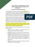 Orientaciones Para La Redacción Del Texto Del Proyecto de Investigación