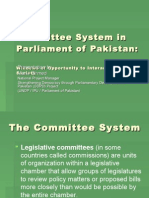 Committee System in Parliament of Pakistan