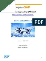 OpenSAP a4h1 Week 1 Source Code