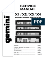 Gemini Sound X-2 Service Manual