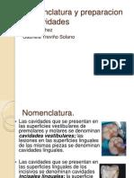 Nomenclatura y de Cavidades. OPERATORIA (1)