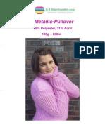 Anleitung Pullover Metallic