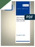 Az Medical Marijuana Program Annual Report 2014
