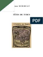 Octave Mirbeau, « Têtes de Turcs »