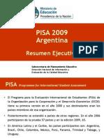 Resultados Informe PISA 2009 Argentina