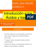 Introduccion a Ácidos y Bases