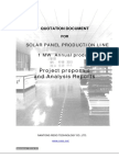 1 MW Quotation Documnets for Solar Panel Proudction Line 2014