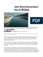 China's Water Diversion Project Starts to Flow to Beijing