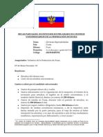 Becas Para Estudios en Rusia 2014