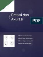 Presisi Dan Akurasi 2013