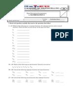 Robin 3rd Periodical Exam Gr. 4 - 6