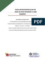 Antón JA Bernal L. Hemorragia Intraventricular Prematuros de Menso de 1500 Gr