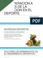 Recuperacion a Traves de La Nutricion en El