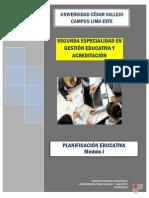 Planificación Educativa - Módulo 2014 i - Terminado