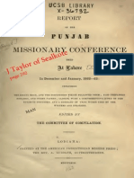Report of the Punjab Missionary Conference Lahore in Dec & Jan, 1862-63, By Committee Lodihana 1863 Perkins