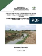Mejoramiento del  margen Izquierda del rio tumbes