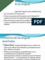 Influencia de las lenguas indígenas