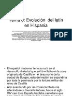 Evolución del latín
