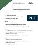 Public Training Calendar 2015