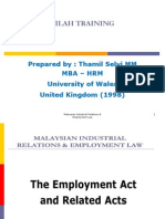 (1) Employment Act & Related Act - DAY 1