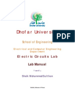 Eca lab manual   amplifier   network analysis (electrical circuits).