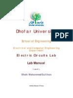 Electric Circuits Lab Manual