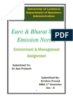 Euro and Bharat Stage Emission Norms